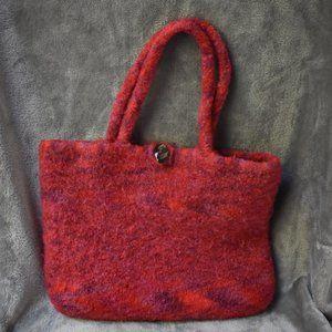 Handmade Wool Felted Knit Purse